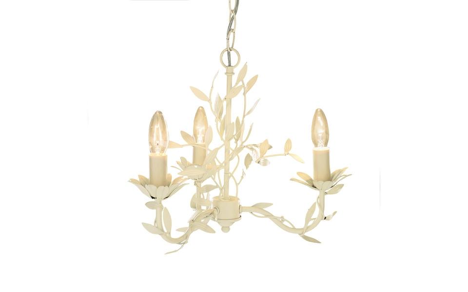 Laura ashley aneela cream 3 light chandelier mozeypictures Choice Image